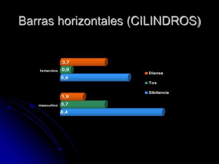 Barras horizontales (CILINDROS)