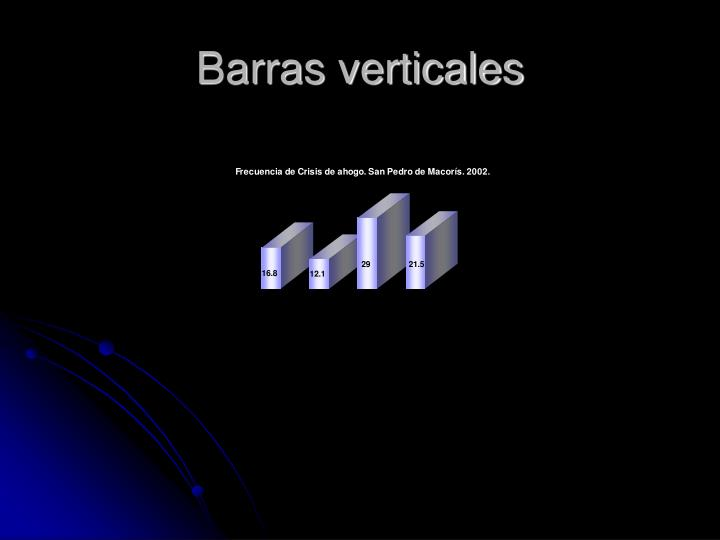 Barras verticales
