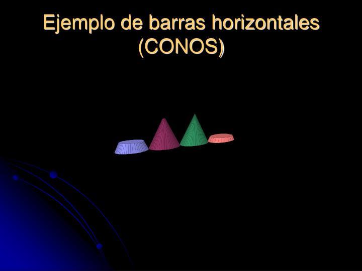Ejemplo de barras horizontales (CONOS)