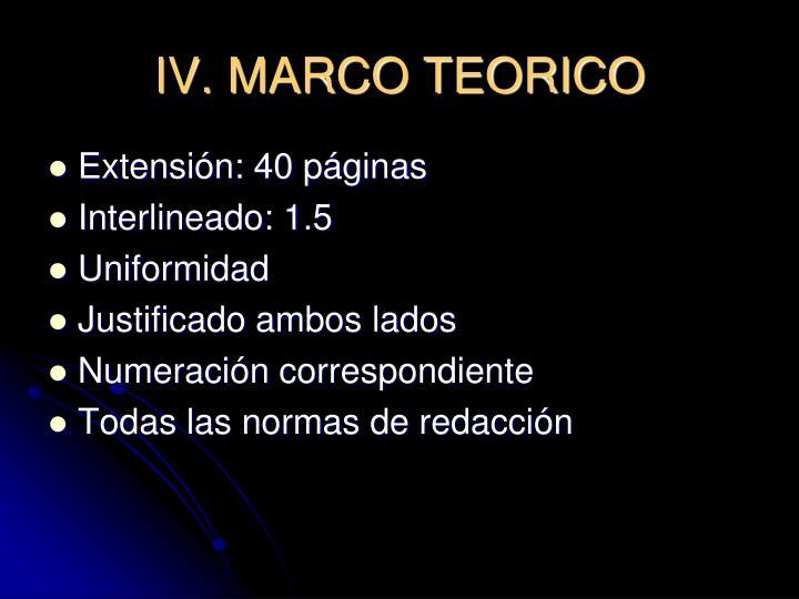 IV. MARCO TEORICO