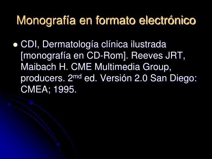 Monografía en formato electrónico