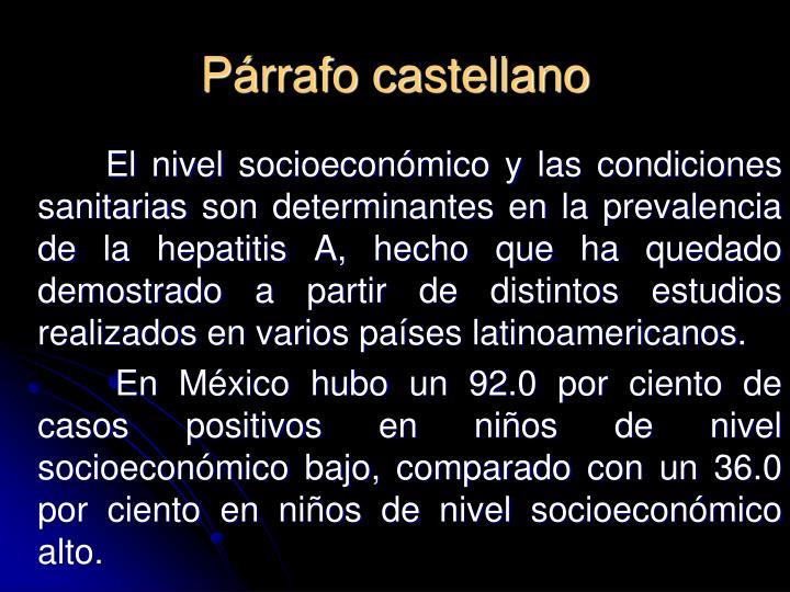 Párrafo castellano