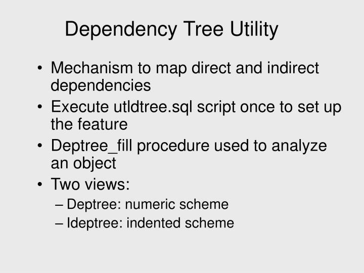 Dependency Tree Utility