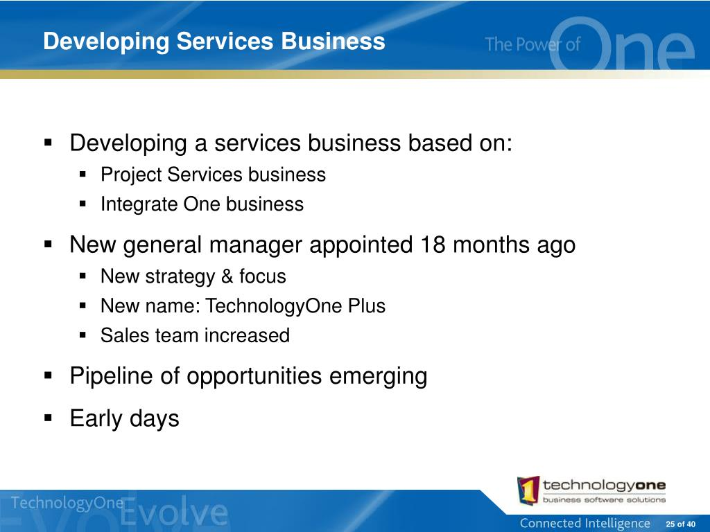 Developing Services Business