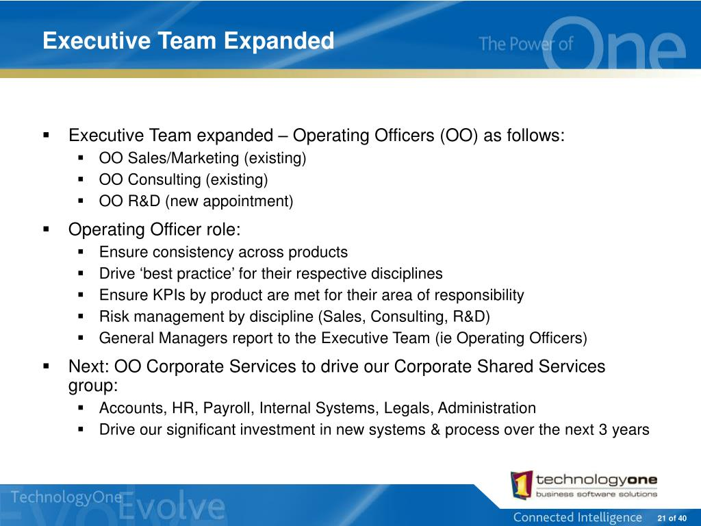 Executive Team Expanded