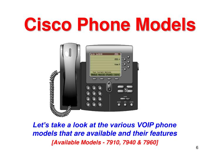 Cisco Phone Models