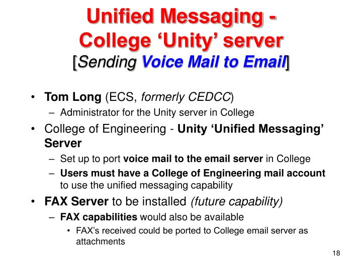 Unified Messaging -