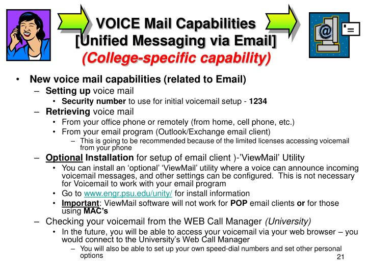 VOICE Mail Capabilities
