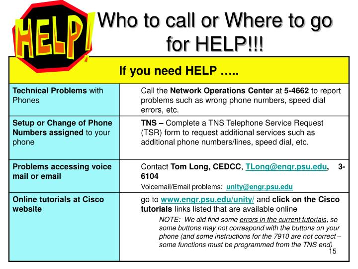 Who to call or Where to go for HELP!!!