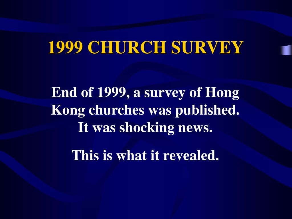 1999 CHURCH SURVEY