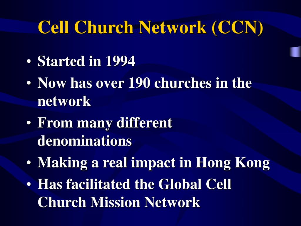 Cell Church Network (CCN)