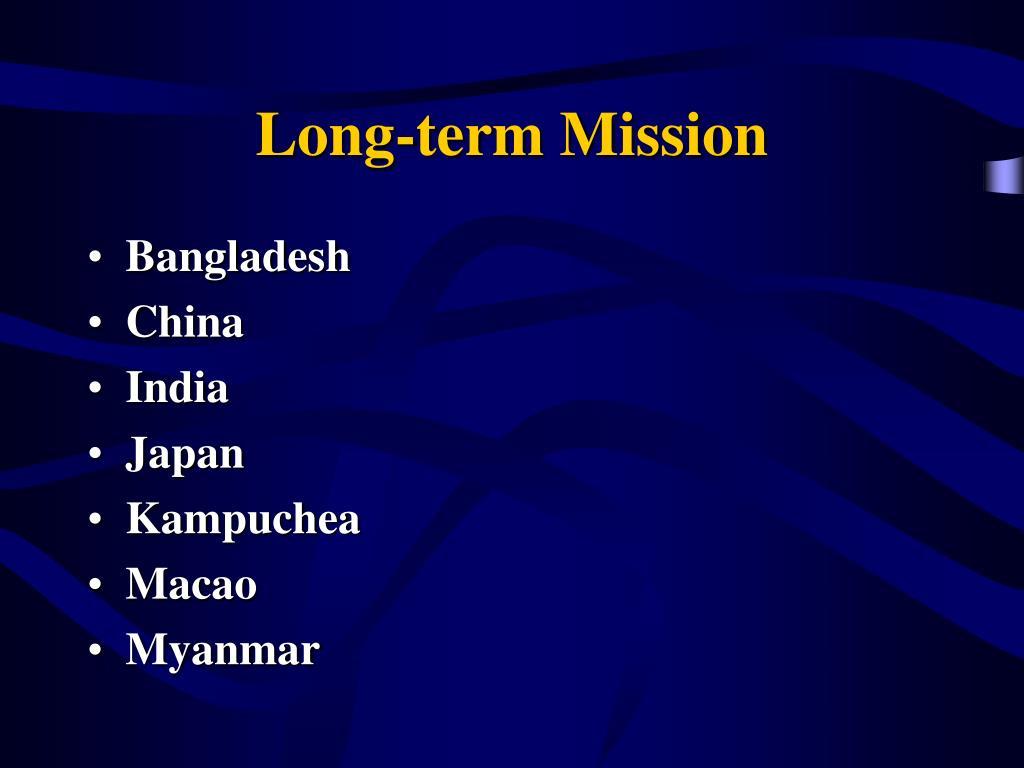 Long-term Mission
