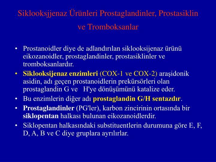Siklooksjjenaz Ürünleri