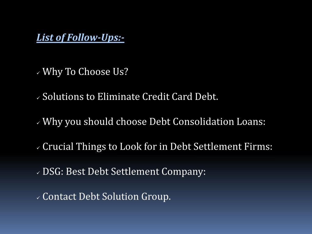 List of Follow-Ups:-