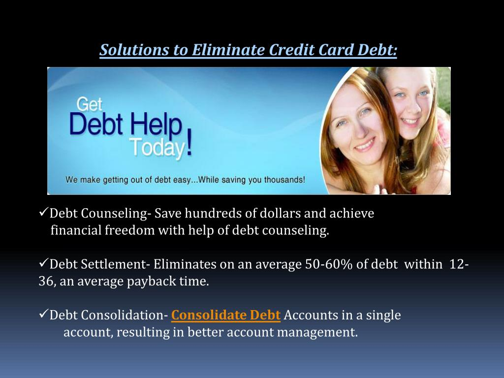Solutions to Eliminate Credit Card Debt: