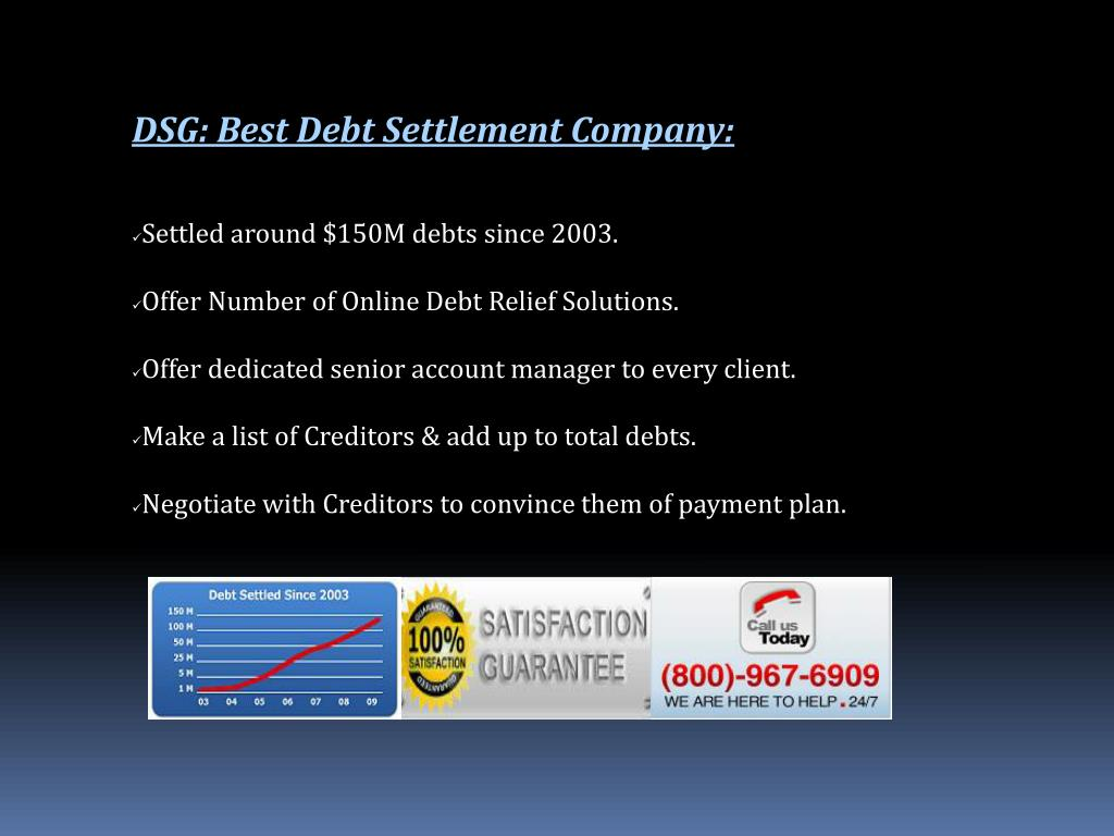DSG: Best Debt Settlement Company: