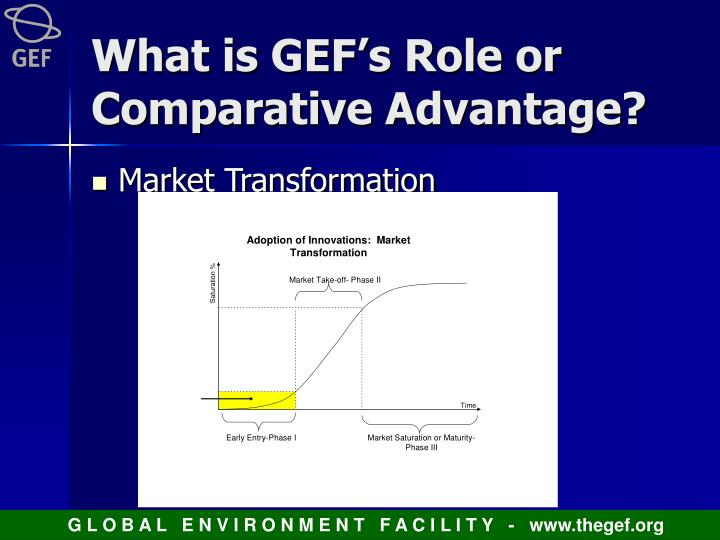 What is GEF's Role or Comparative Advantage?