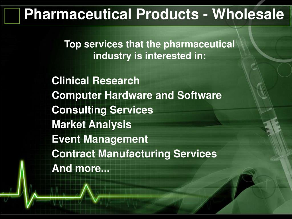 Pharmaceutical Products - Wholesale