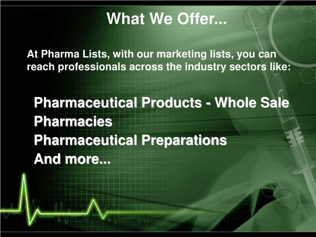 What We Offer...
