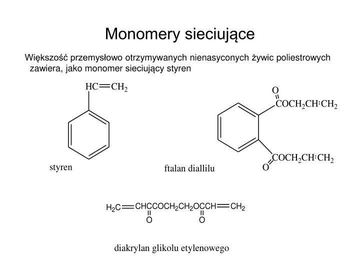 Monomery sieciujące