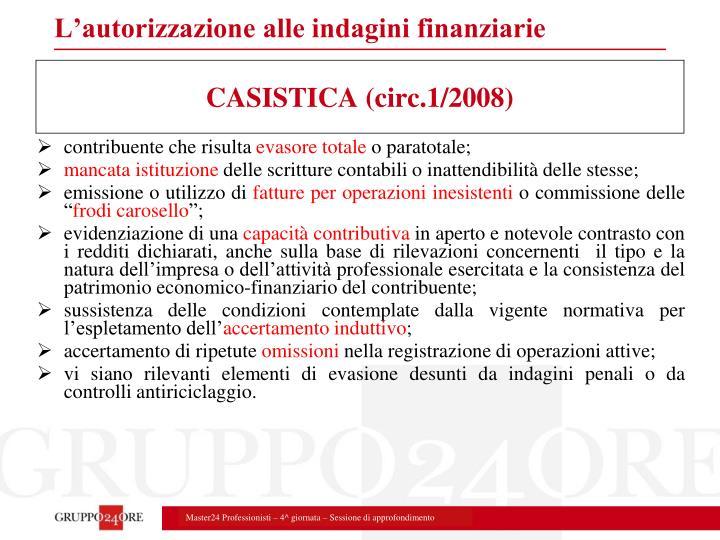 CASISTICA (circ.1/2008)