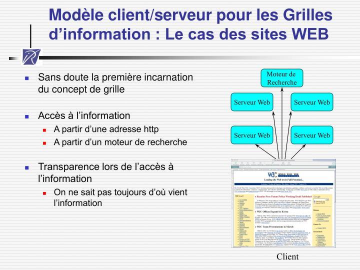 Modèle client/serveur pour les Grilles d'information : Le cas des sites WEB
