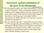 structural spatial exploitation of the poor the immigrant