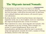 the migrants turned nomads