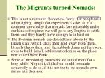 the migrants turned nomads52