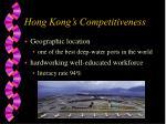 hong kong s competitiveness