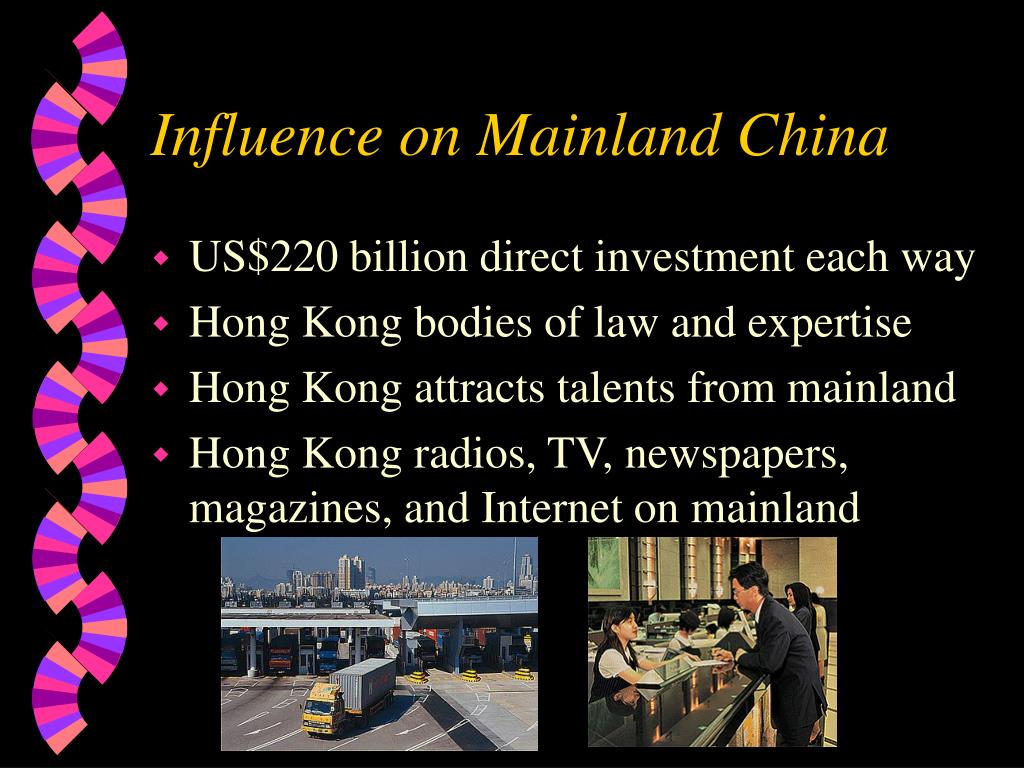 Influence on Mainland China