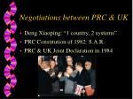 negotiations between prc uk