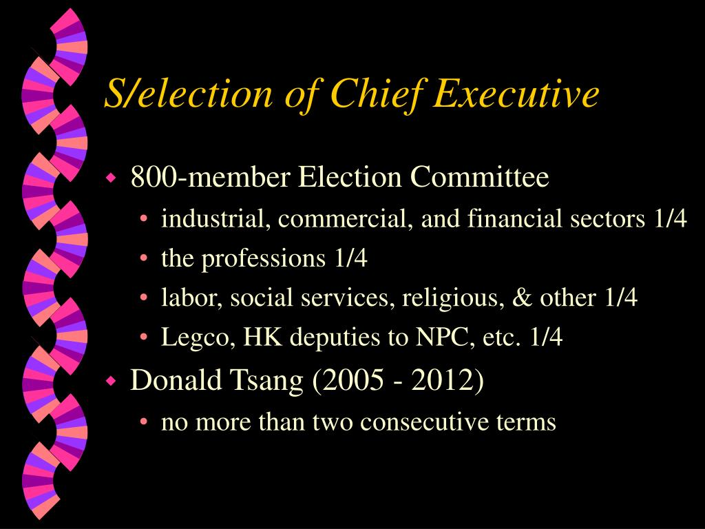 S/election of Chief Executive