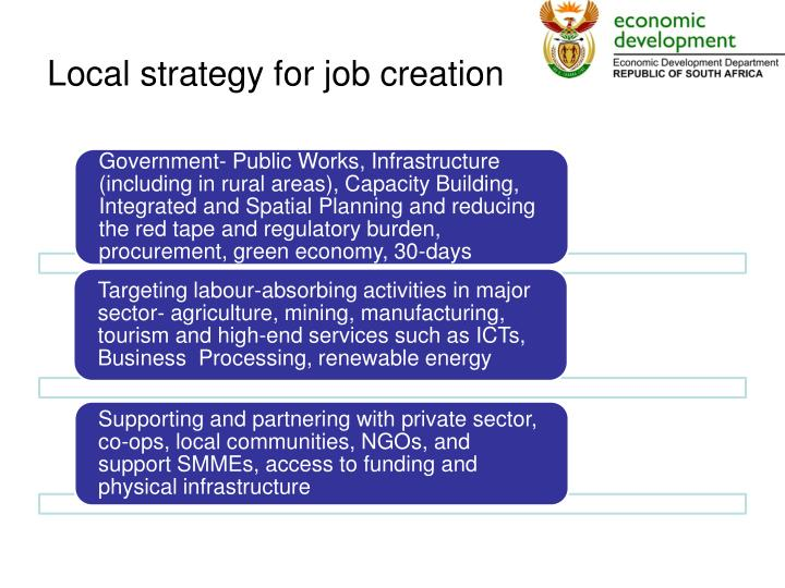 Local strategy for job creation