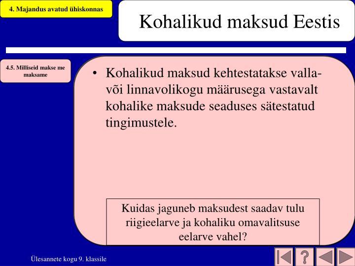 Kohalikud maksud Eestis