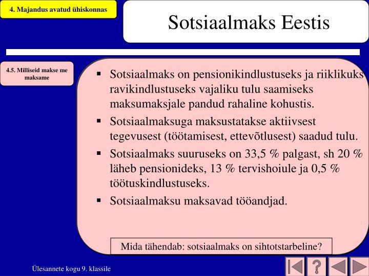 Sotsiaalmaks Eestis