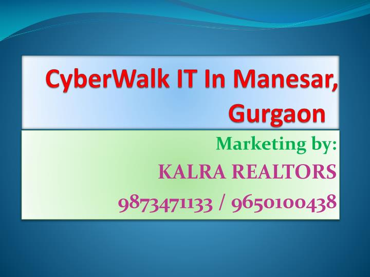 Cyberwalk it in manesar gurgaon l.jpg