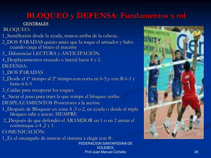 BLOQUEO y DEFENSA: Fundamentos x rol