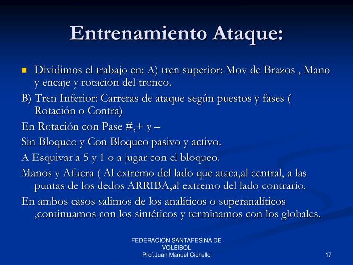 Entrenamiento Ataque: