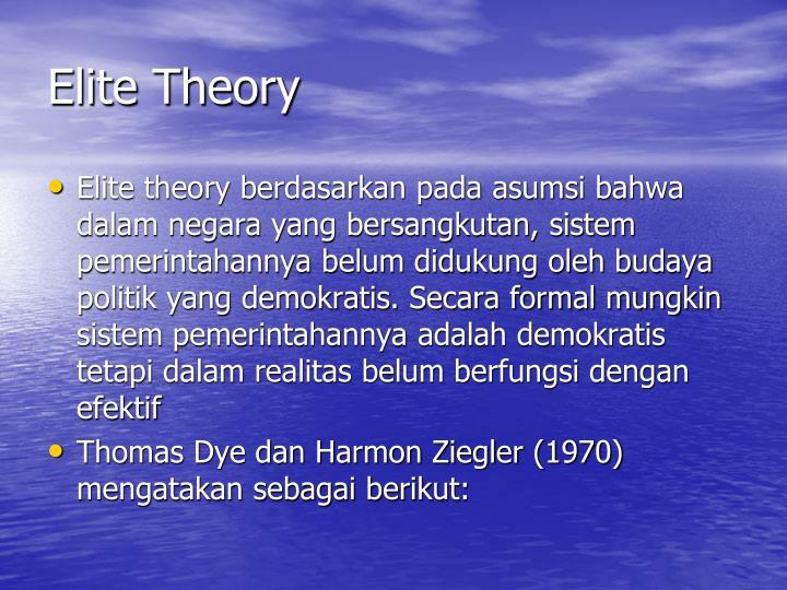 Elite Theory