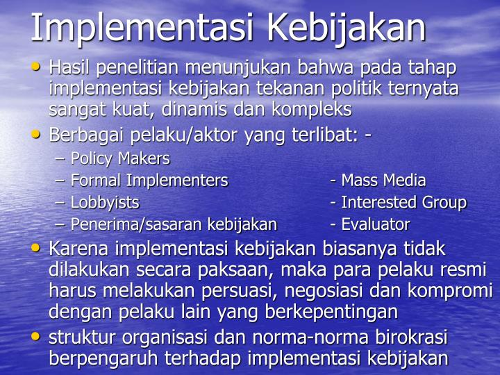 Implementasi Kebijakan