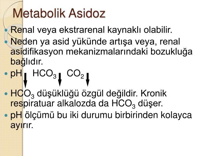 Metabolik Asidoz