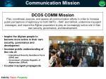 communication mission