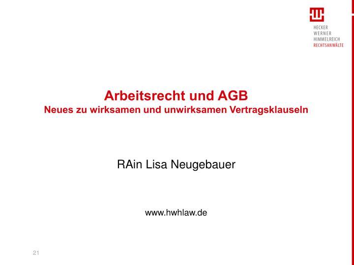 Arbeitsrecht und AGB
