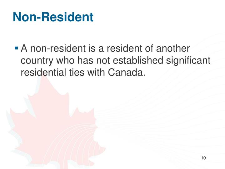Non-Resident
