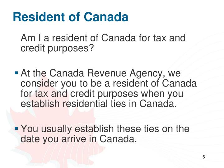 Resident of Canada