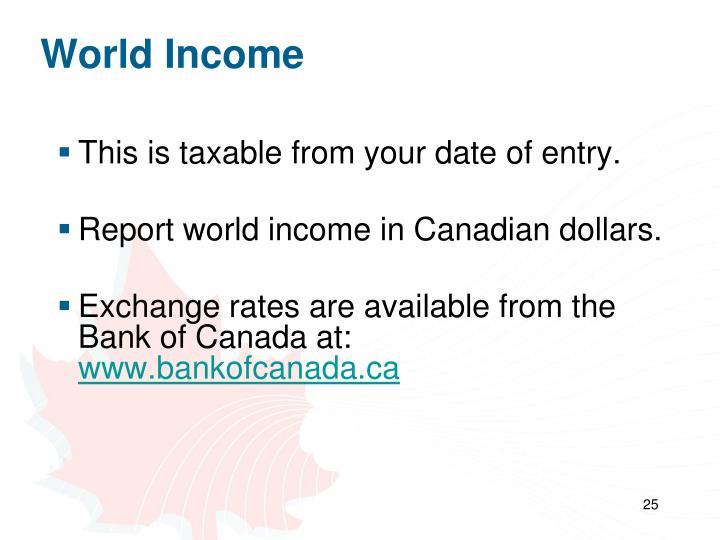 World Income