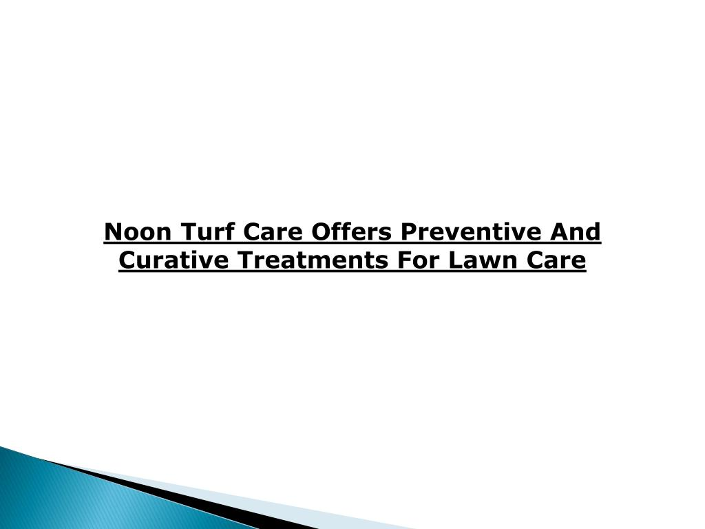 Noon Turf Care Offers Preventive And Curative Treatments For Lawn Care