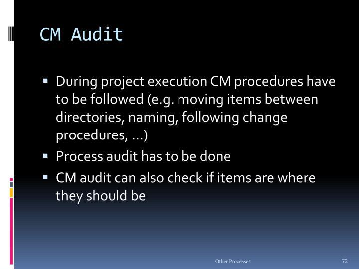 CM Audit
