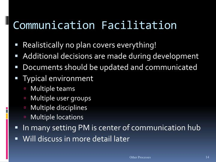 Communication Facilitation